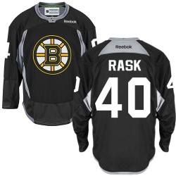 Adult Boston Bruins Tuukka Rask Reebok Black Authentic Practice NHL Jersey