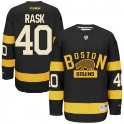 Adult Boston Bruins Tuukka Rask Reebok Black Authentic 2016 Winter Classic NHL Jersey